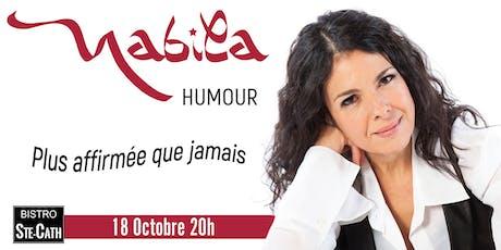 Nabila Ben Youssef, humour Plus affirmée que jamais billets
