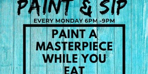 Paint & Sip at Porkchop Hyde Park