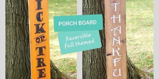 Reversible FALL Porch Board