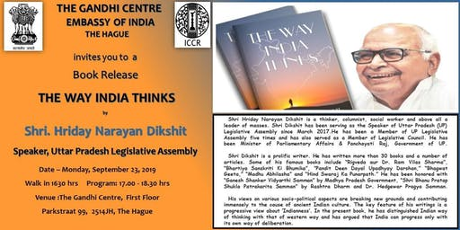 "Book Release ""The Way India Thinks"" - Shri Hriday Narayan Dikshit"