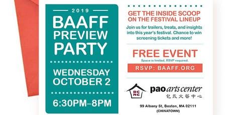 2019 BAAFF Preview Party (FREE) tickets
