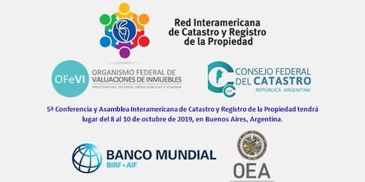 ConfCat19: V Conferencia Interamericana de Catastro y Registro de la Propiedad