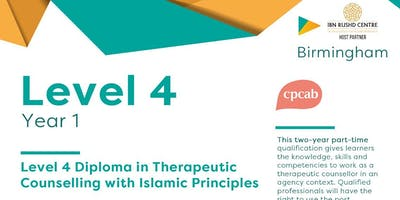 Level 4 Diploma in Therapeutic Counselling (CPCAB) with Islamic Principles -Birmingham