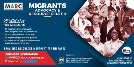 Migrant Advocacy & Resource Centre (MARC) - Information Session (SOUTH) tickets