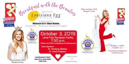 Fit, Fun & Fabulous Breakfast with the Beauties-Miss Louisiana 2019