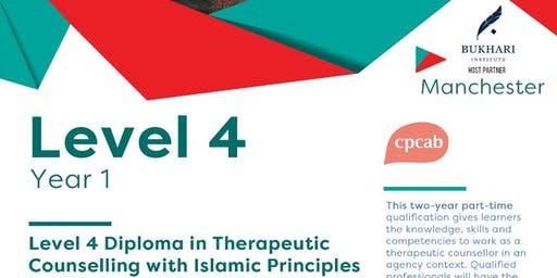 Level 4 Diploma in Therapeutic Counselling (CPCAB) with Islamic Principles - Manchester