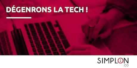 Atelier Dégenrons La Tech inter-entreprises by Simplon billets