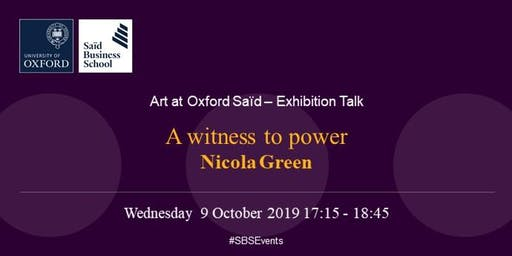 Art at Oxford Saïd - Exhibition talk: Nicola Green