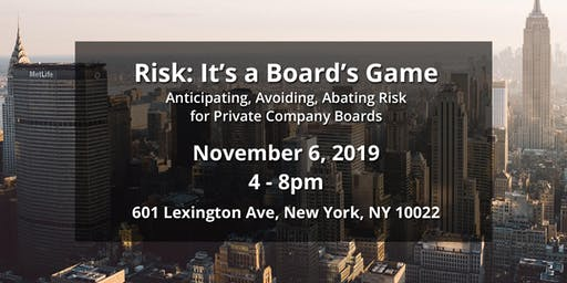 Risk: It's a Board's Game – NYC, Fall 2019