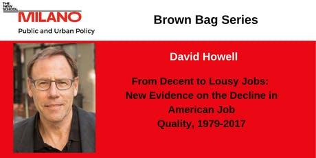 Fall 2019 PUP Brown Bag: New Evidence on the Decline in American Job tickets