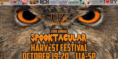 33rd Annual Utica Zoo Spooktacular Harvest Festival-2019 tickets
