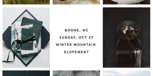 Winter Elopement Styled Shoot in Boone, NC