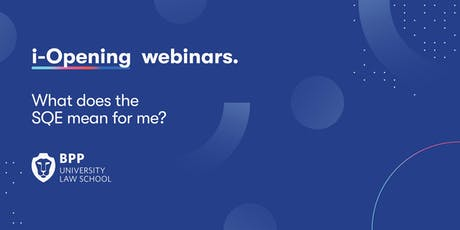 Webinar: What does the SQE mean for me?  tickets
