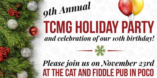 9th Annual  TCMG Holiday Party & Celebration of Our 10th Birthday
