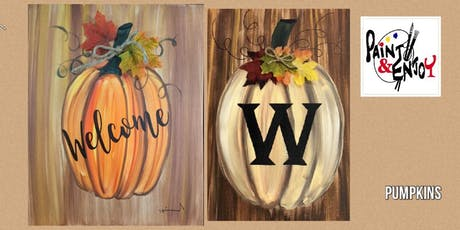 "Paint and Enjoy at Halbrendt Vineyard ""Pumpkin "" tickets"
