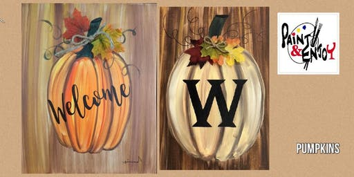 "Paint and Enjoy at Halbrendt Vineyard ""Pumpkin """