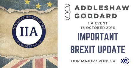 BREXIT Update Event - An important week in politics. Hosted by Addleshaw Goddard & IIA  tickets