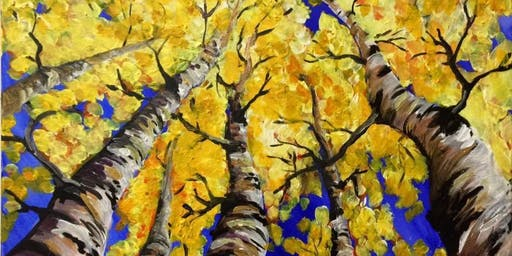 Fall trees painting class