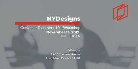 Customer Discovery 101 Workshop tickets