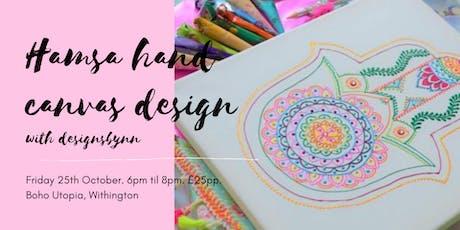 Weekly Wellbeing Workshop - Hamsa Hand Canvas Design tickets