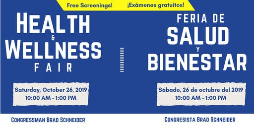 2019 Health & Wellness Fair hosted by Rep. Brad Schneider