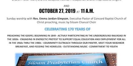 SILOAM PRESBYTERIAN CHURCH 170TH ANNIVERSARY tickets