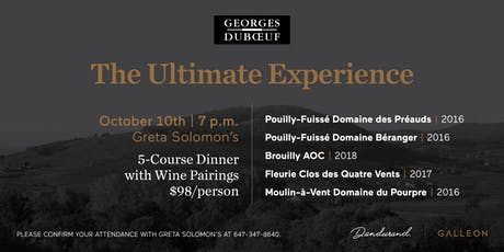 Georges Dubœuf Wine Dinner tickets