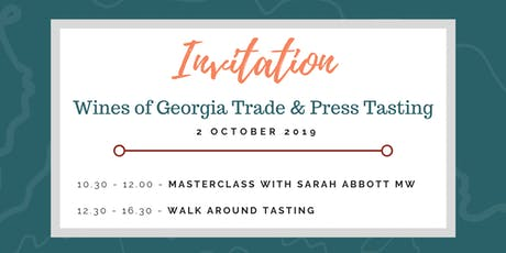 Wines of Georgia Festival Trade & Press Tasting tickets