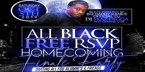 All Black Free RSVP Homecoming Finale Party