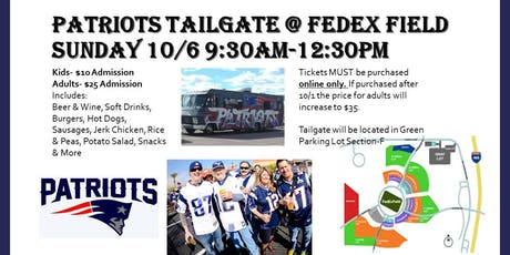 Patriots Tailgate @ FEDEX FIELD tickets