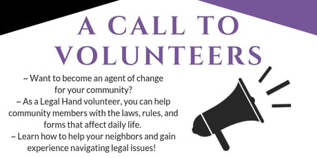 Become a Volunteer Advocate! - Legal Hand Crown Heights tickets