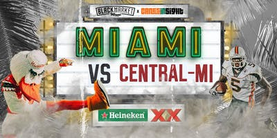 MIAMI vs CENTRAL MICHIGAN  Watch Party at Black Market Miami