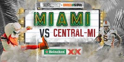 MIAMI vs CENTRAL MICHIGAN  Watch Party at Black Market Miami