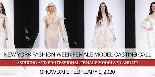 NEW YORK FASHION WEEK FEBRUARY 2020 FEMALE MODEL CASTING CALL