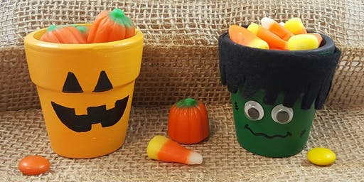 Family Craft: Halloween Painted Pots