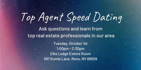 Top Agent Speed Dating tickets
