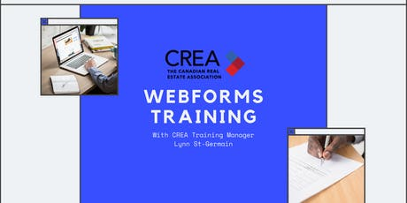 Webforms Training with CREA's Training Manager, Lynn St-Germain tickets
