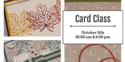 October Card Class