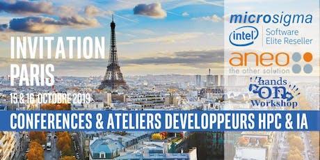Conférence Développeurs Intel® Software calcul HPC et IA Paris 15-16 Octobre 2019 billets