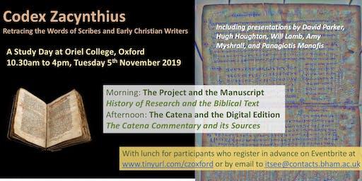 Codex Zacynthius: Oxford Study Day