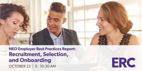 NEO Employer Best Practices Report: Recruitment, Selection, and Onboarding tickets
