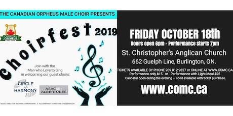 Canadian Orpheus Male Choir presents Choirfest 2019 tickets