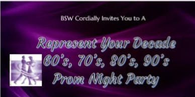 Represent Your Decade Prom Party Night