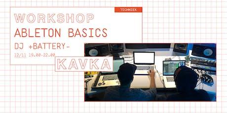 Workshop | Ableton Basics met DJ +BATTERY- tickets