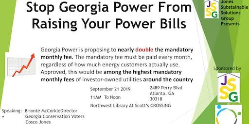 Stop Georgia Power From Raising Your Power Bills