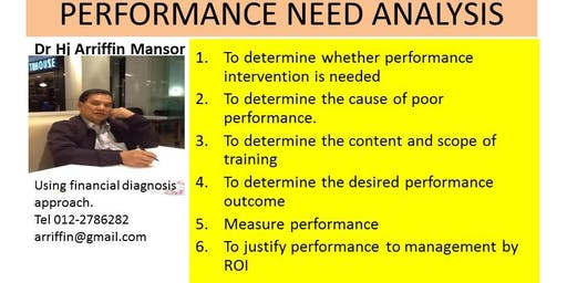 PERFORMANCE NEED ANALYSIS :   Planning for performance improvement