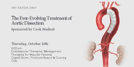 The Ever-Evolving Treatment of Aortic Dissection sponsored by Cook Medical tickets