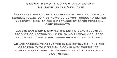 Clean Beauty Lunch and Learn