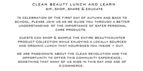 Clean Beauty Lunch and Learn  tickets