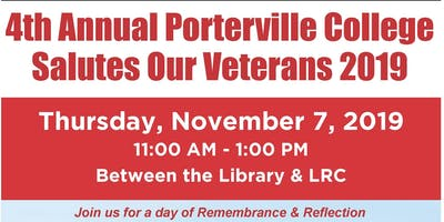 4th Annual Porterville College Salutes Our Veterans 2019
